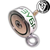 Поисковый магнит «ЗУБР» 200кг - двухсторонний F200x2